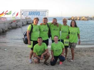 il giorno prima - foto di gruppo con gli atleti del Lucca Nuoto Capannori e Polisportiva Amatori Prato
