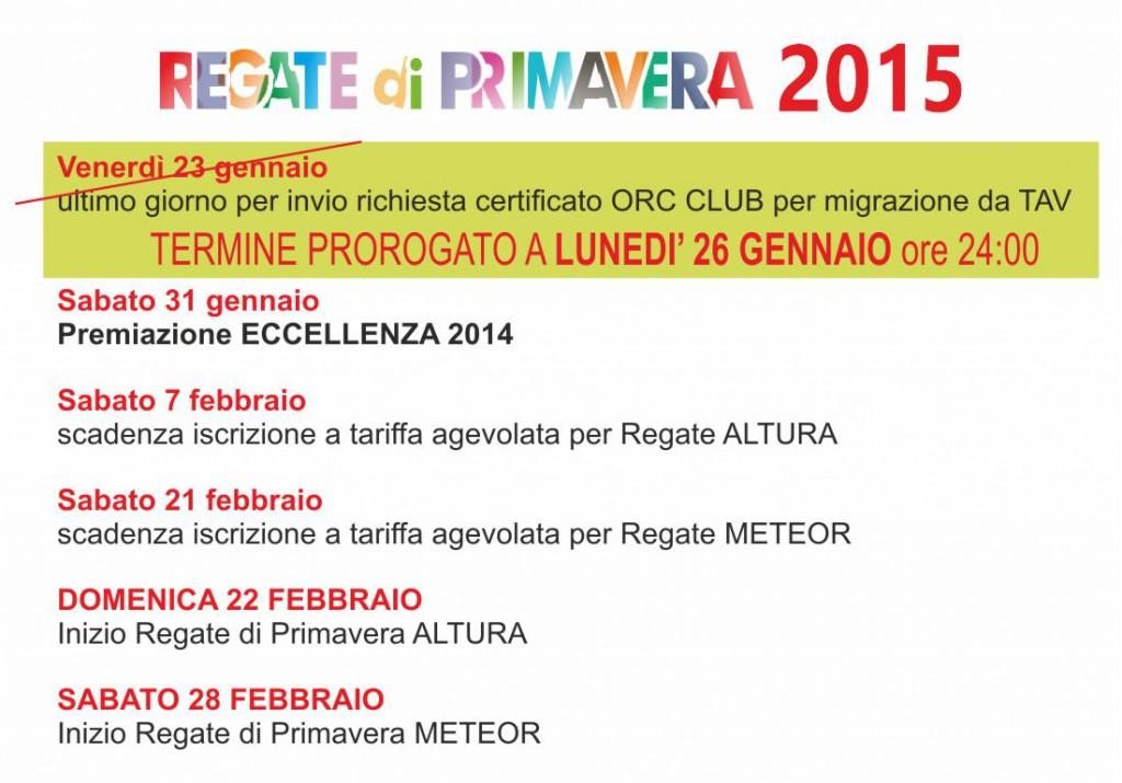 Calendario RdP2015